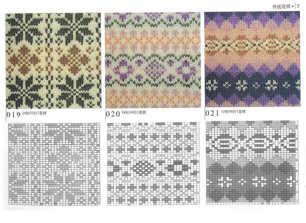 Рисунки орнаментов для вязания