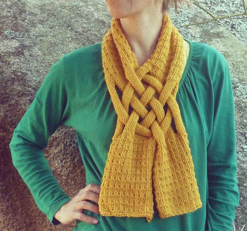 Оригинальные шарфы своими руками вязаные фото 588