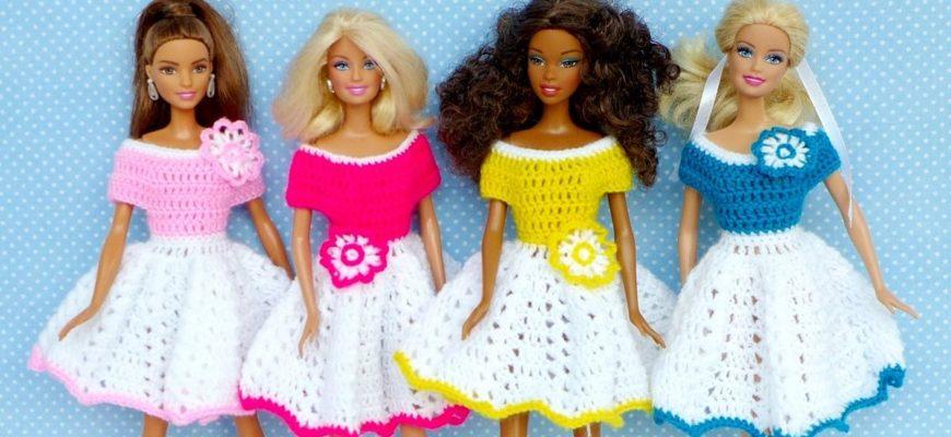 платье для куклы Барби крючком