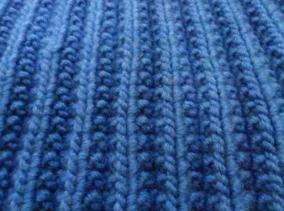 Польская резинка спицами: вязание по схеме и видео уроку.