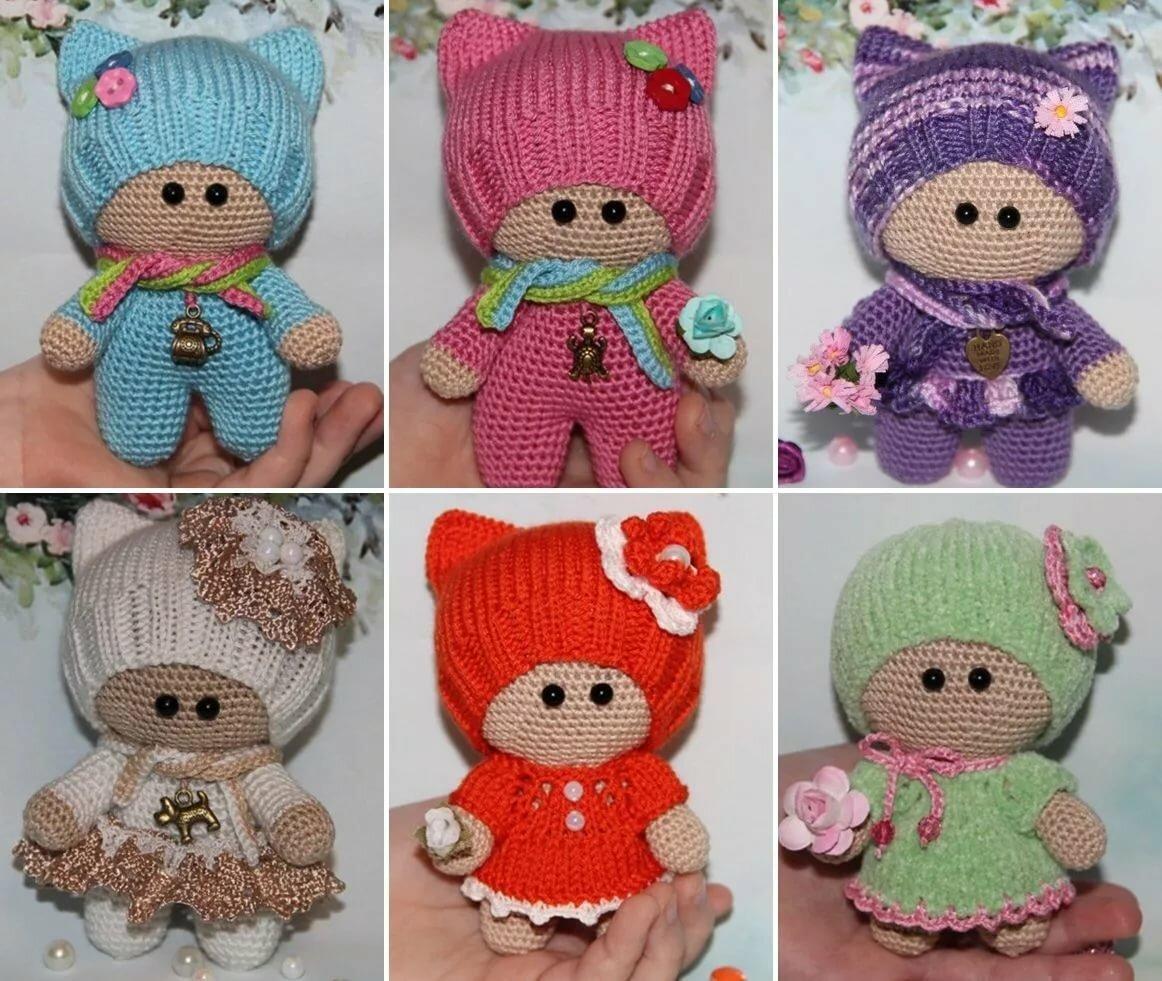 простое платье для куклы амигуруми