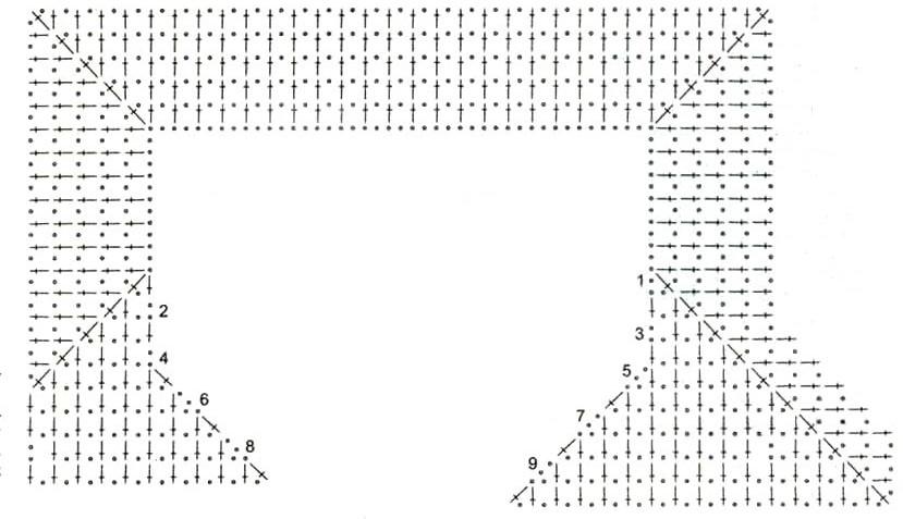 простой узор для кардигана