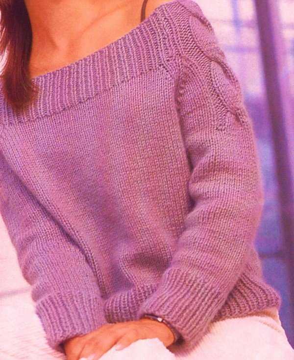 Модели для вязания реглана