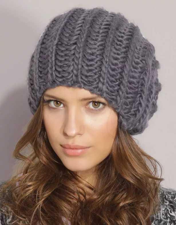 вязание женских шапок английской резинкой видео