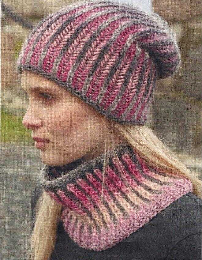 Схемы вязания женских шапок спицами с описанием