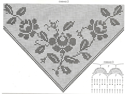 Схема для вязания шали