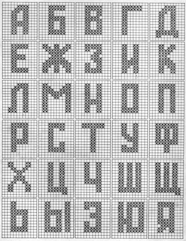 Вышивка букв и цифр крестиком схемы