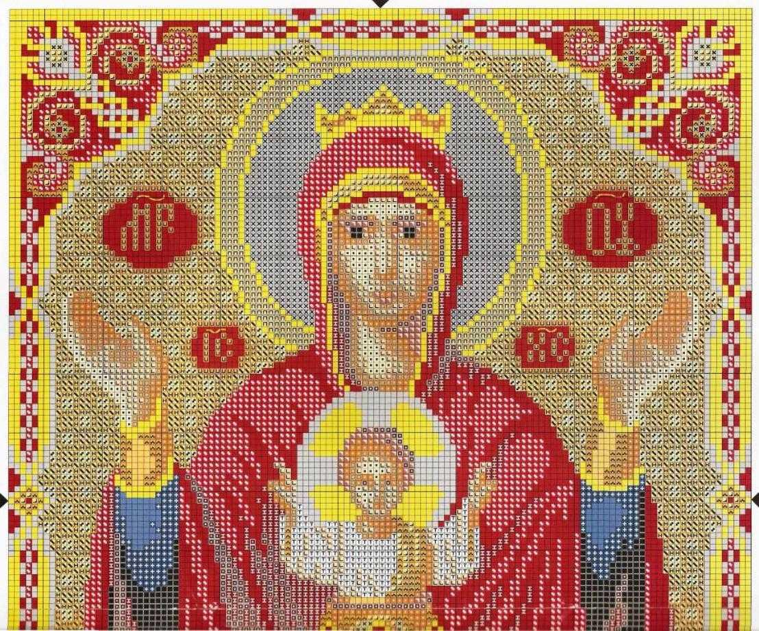 Вышивка крестом иконы большие