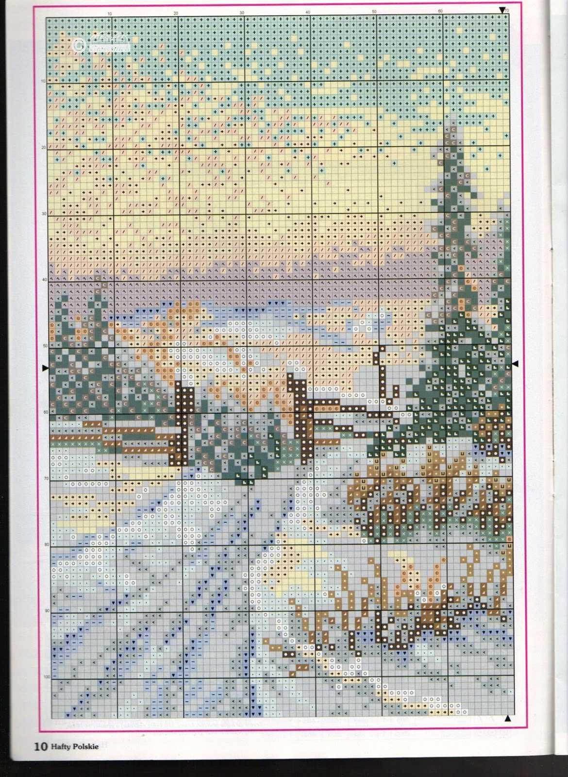 схема вышивки пейзажей