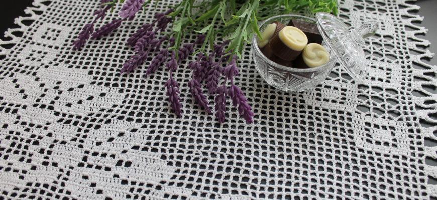 Схемы и описания филейного вязания салфеток крючком