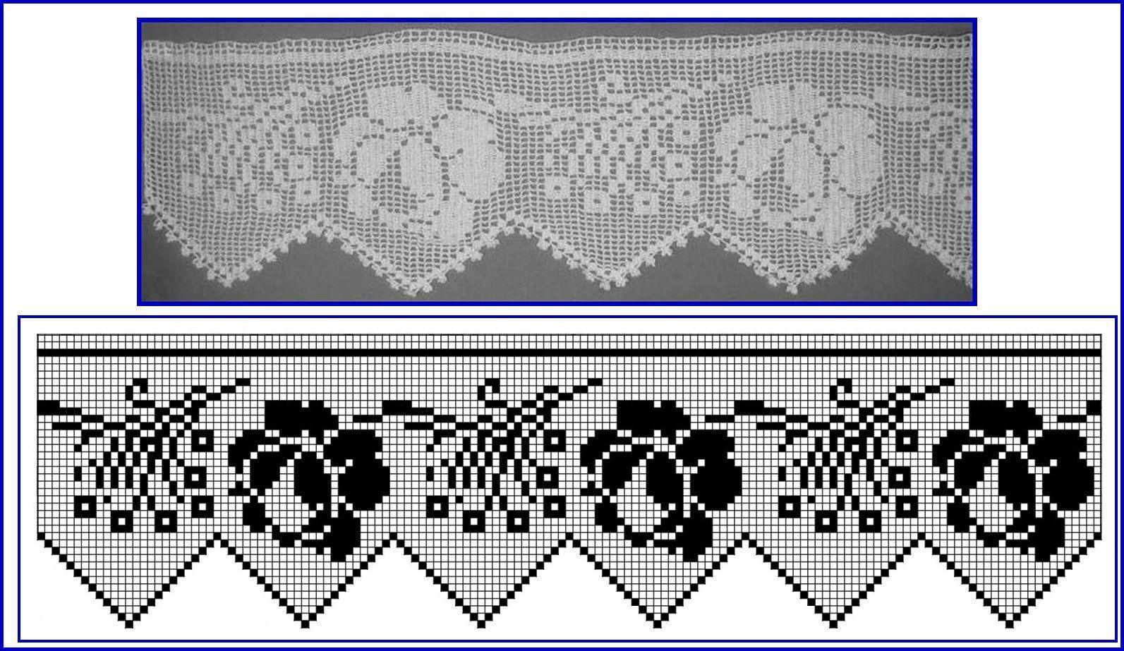 Схемы каймы с розами