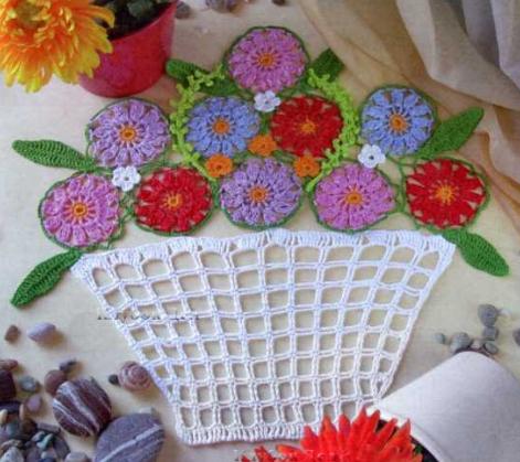 схема корзинки с цветами