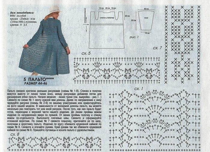 схема пальто