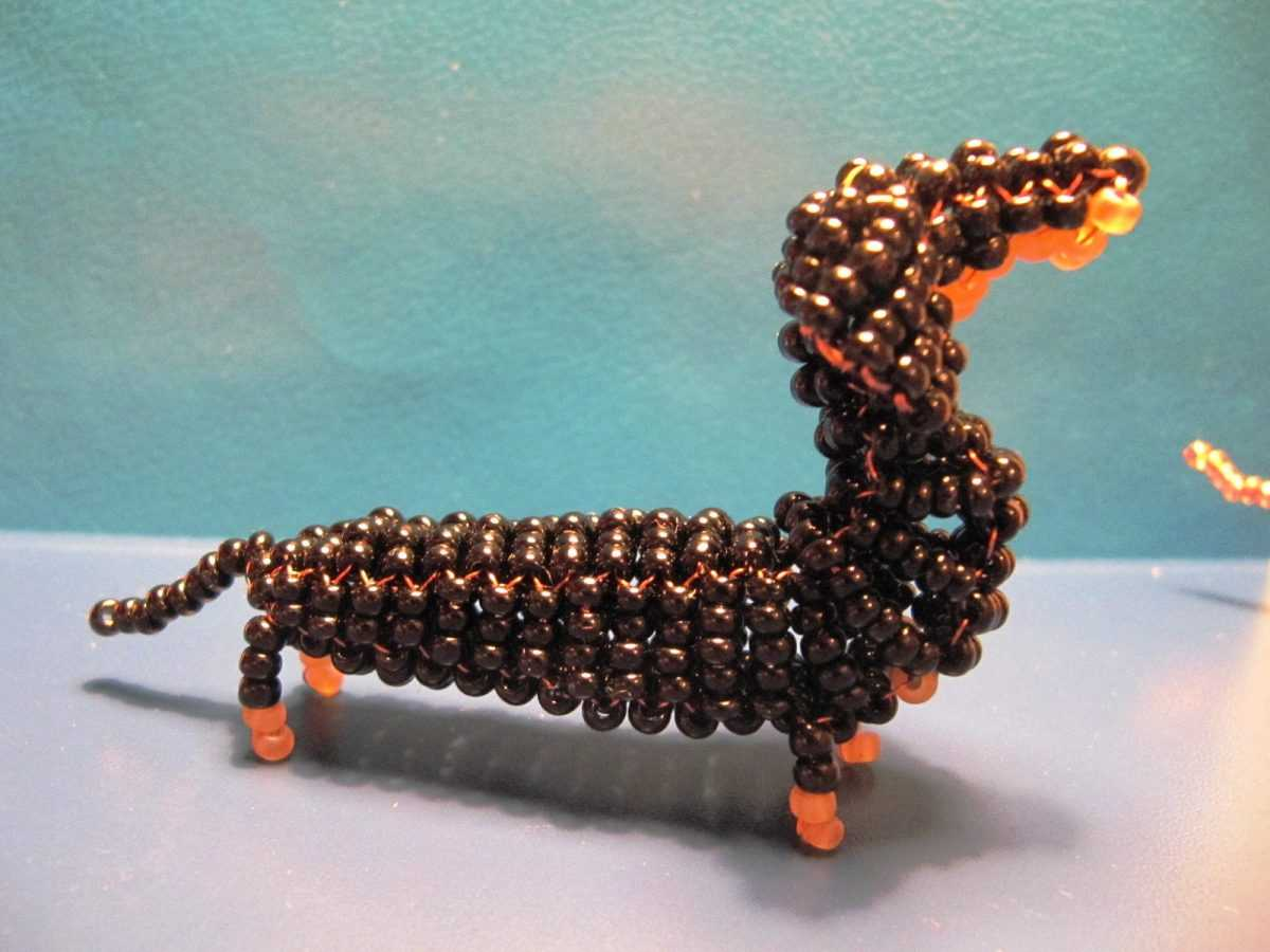 схема объемной собаки из бисера собаки из бисера
