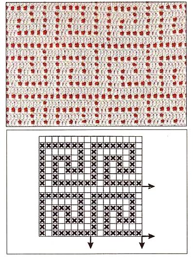 Сплошной ажурный орнамент из меандров