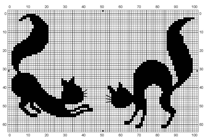 Узор в виде кота или кошечки