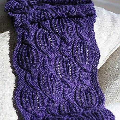 Красивый шарф спицами схема и описание фото 711
