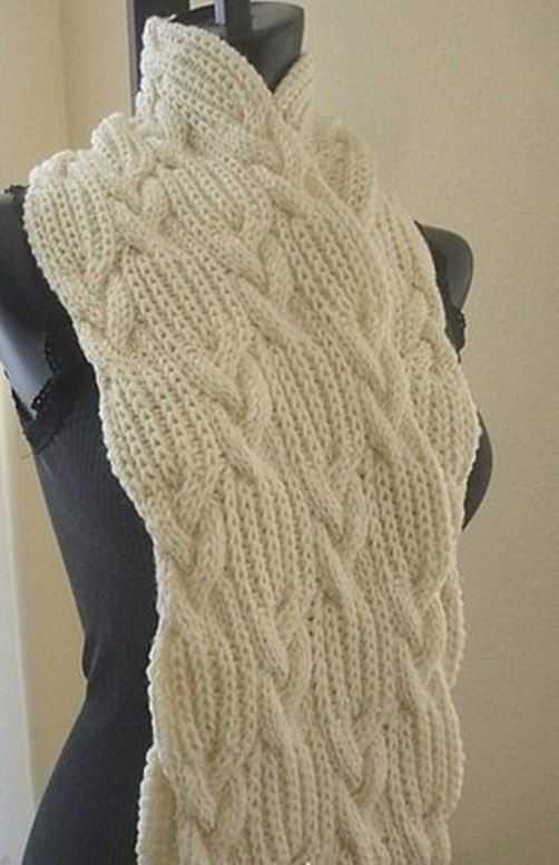 Красивый шарф спицами схема и описание фото 780