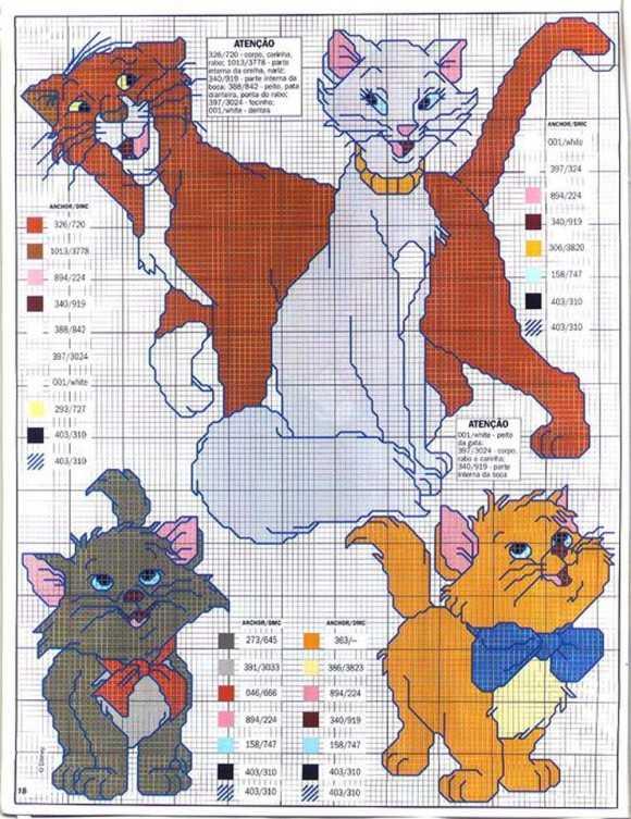 Вышивка схемы для детской комнаты