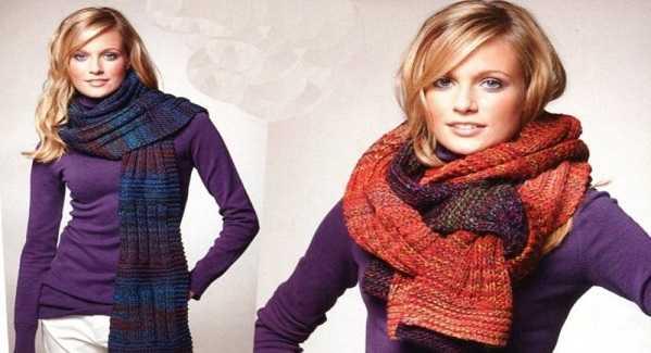 вязание спицами красивых шарфов для начинающих