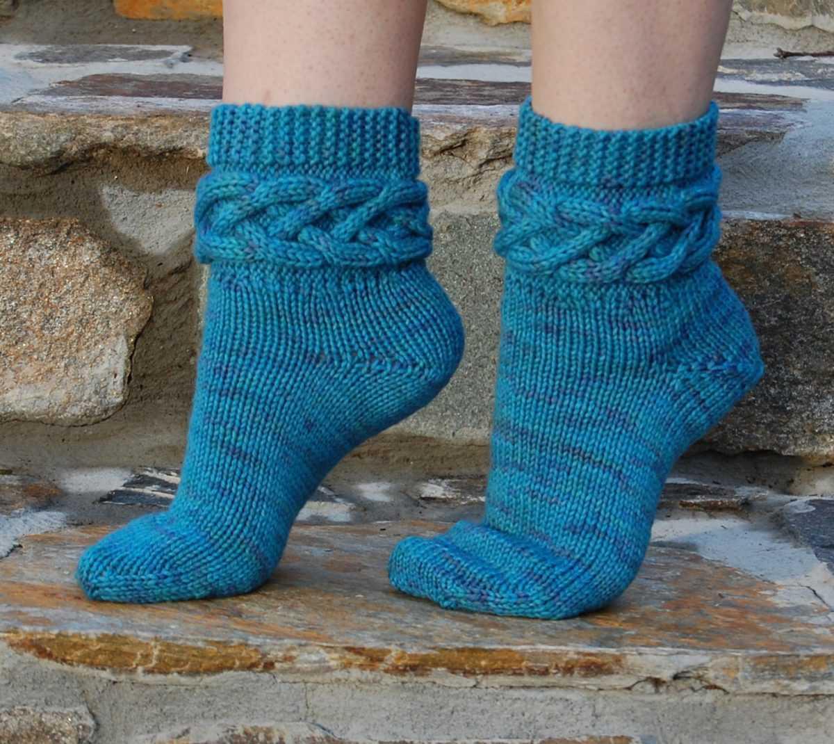 вязание носков на 5 спицах по мастер классу фото и схемы