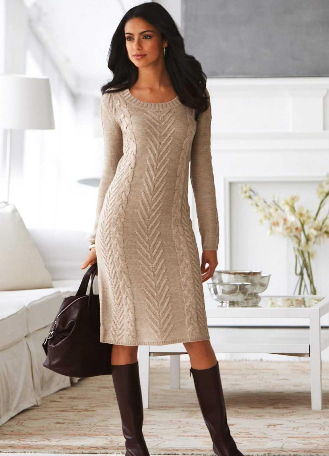 Связать платье резинку