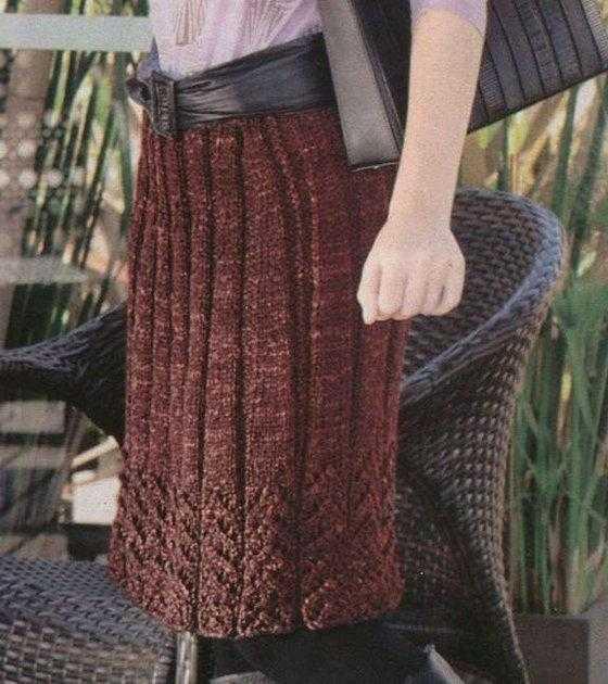 Вязаная юбка спицами для женщин - 9 моделей (схемы, описание, мк)