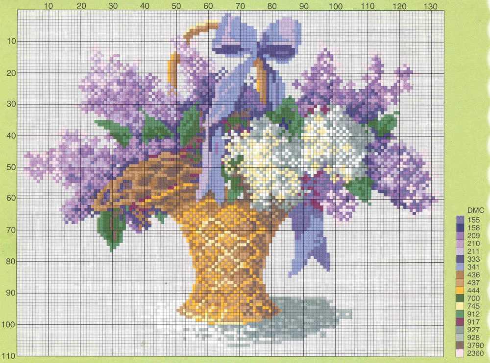 Вышивка со схемами и цветом