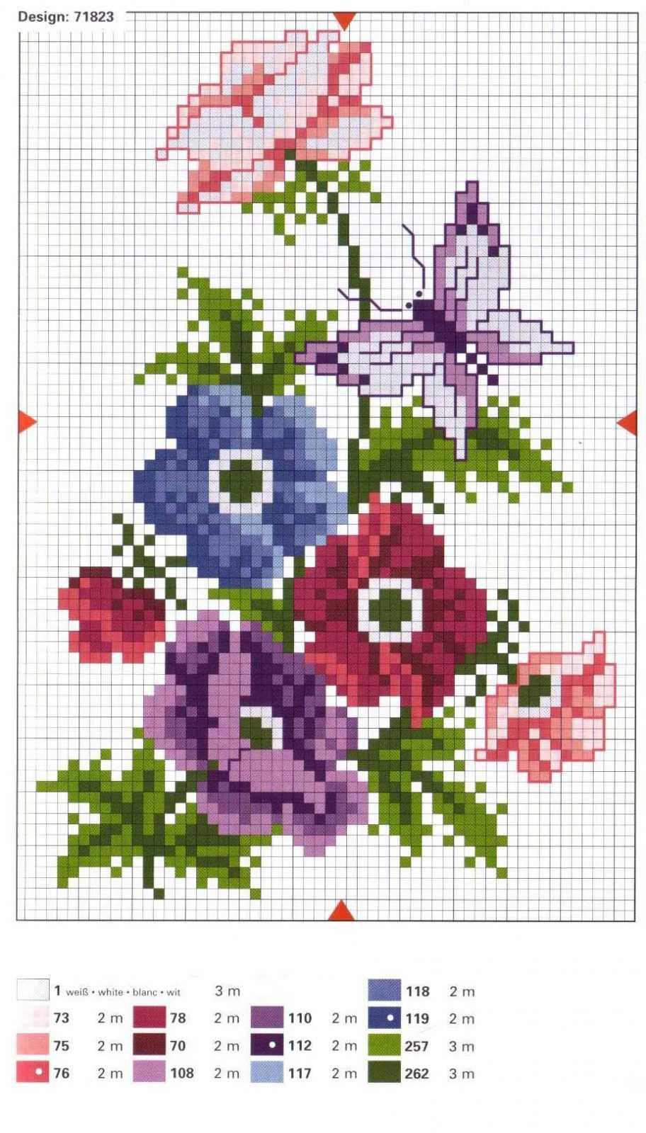 Схемы вышивок крестом в 1 цвет
