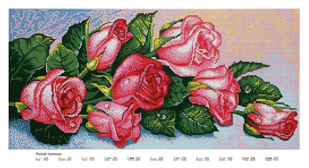 Подбор цветов к вышивке бисером