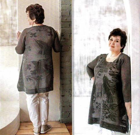 Вязаная блуза в стиле бохо