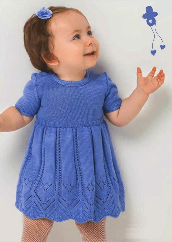 Платье с длинным рукавом для девочки схемы