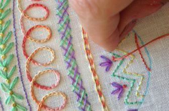 Вышивка нитками мулине на ткани для начинающих