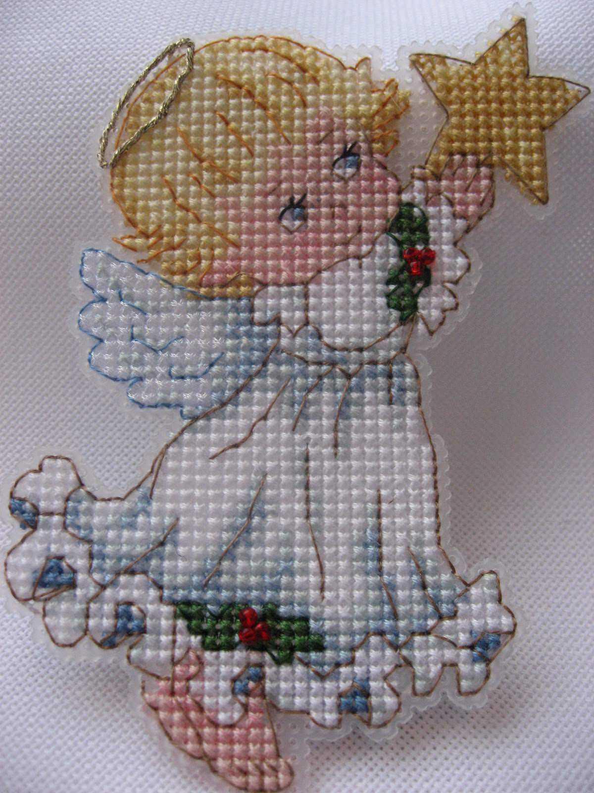 Маленькие схема вышивки ангел