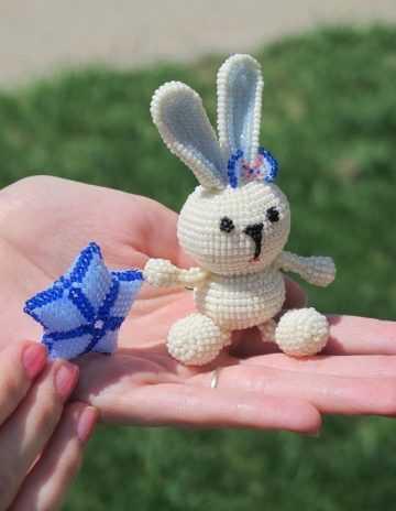 Кролик из бисера схема фото 114